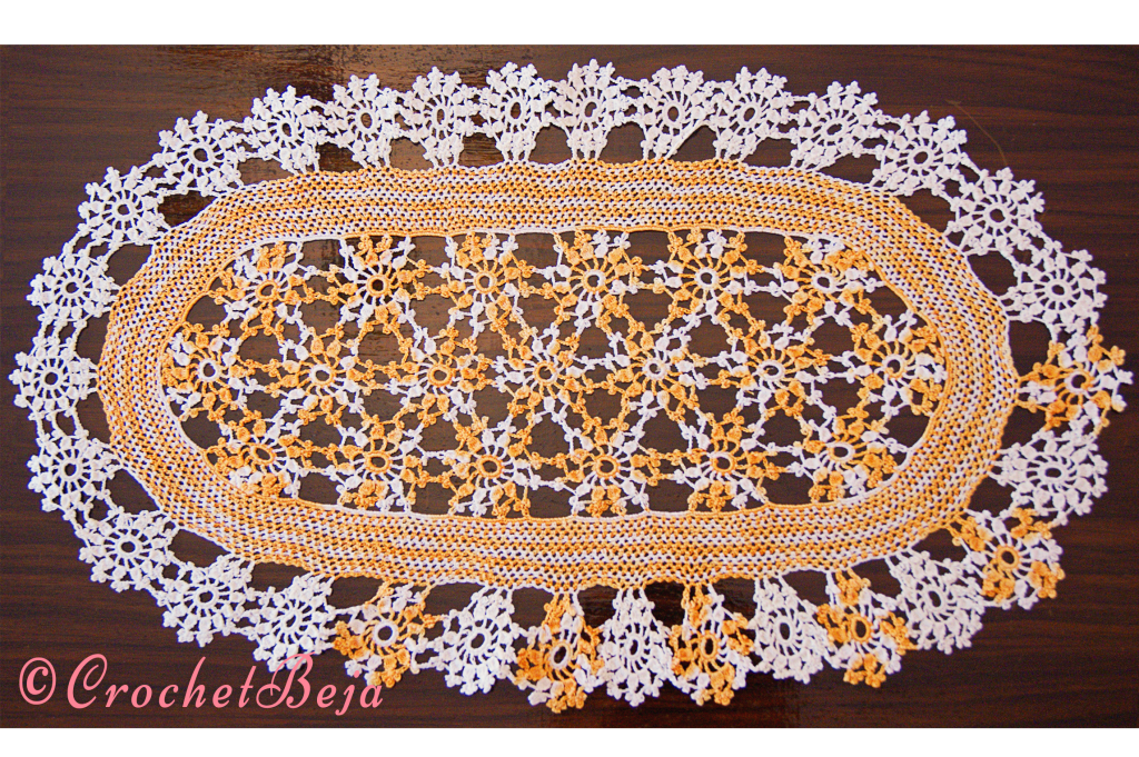 Doily With 50 Crochet Flowers