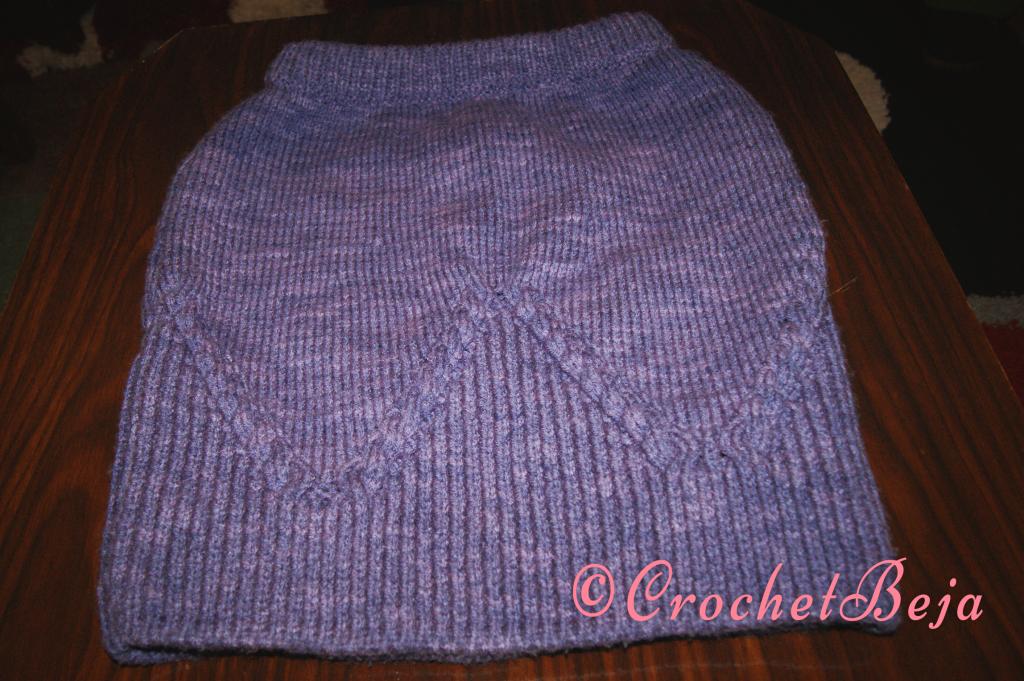 Purple Crochet Skirt