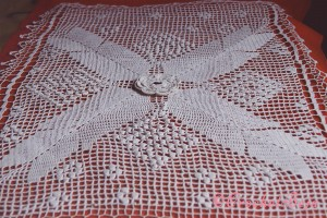 White Crochet Artwork