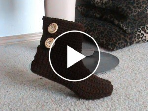 Crochet Bootie Slippers – Pattern & Video Tutorial