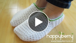 White Crochet Slippers – Video Tutorial