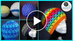 Crochet Granny Stitch Hat – Pattern & Video Tutorial