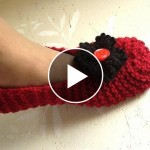 Knitted Slippers For Man And Woman – Video Tutorial