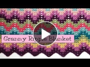Ripple Blanket Crochet – Video Tutorial