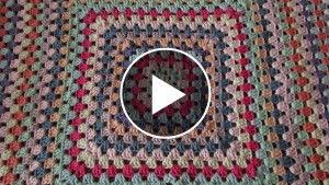 Granny Square Blanket Crochet – Pattern & Video Tutorial