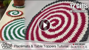 Spiral Crochet Coaster Tutorial