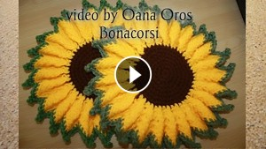 Crochet Sunflower Pot Holder – Pattern & Video Tutorial