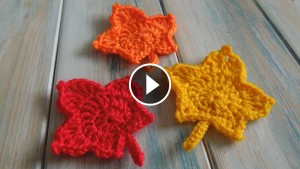 Crochet Leaf Decorations – Pattern & Video Tutorial