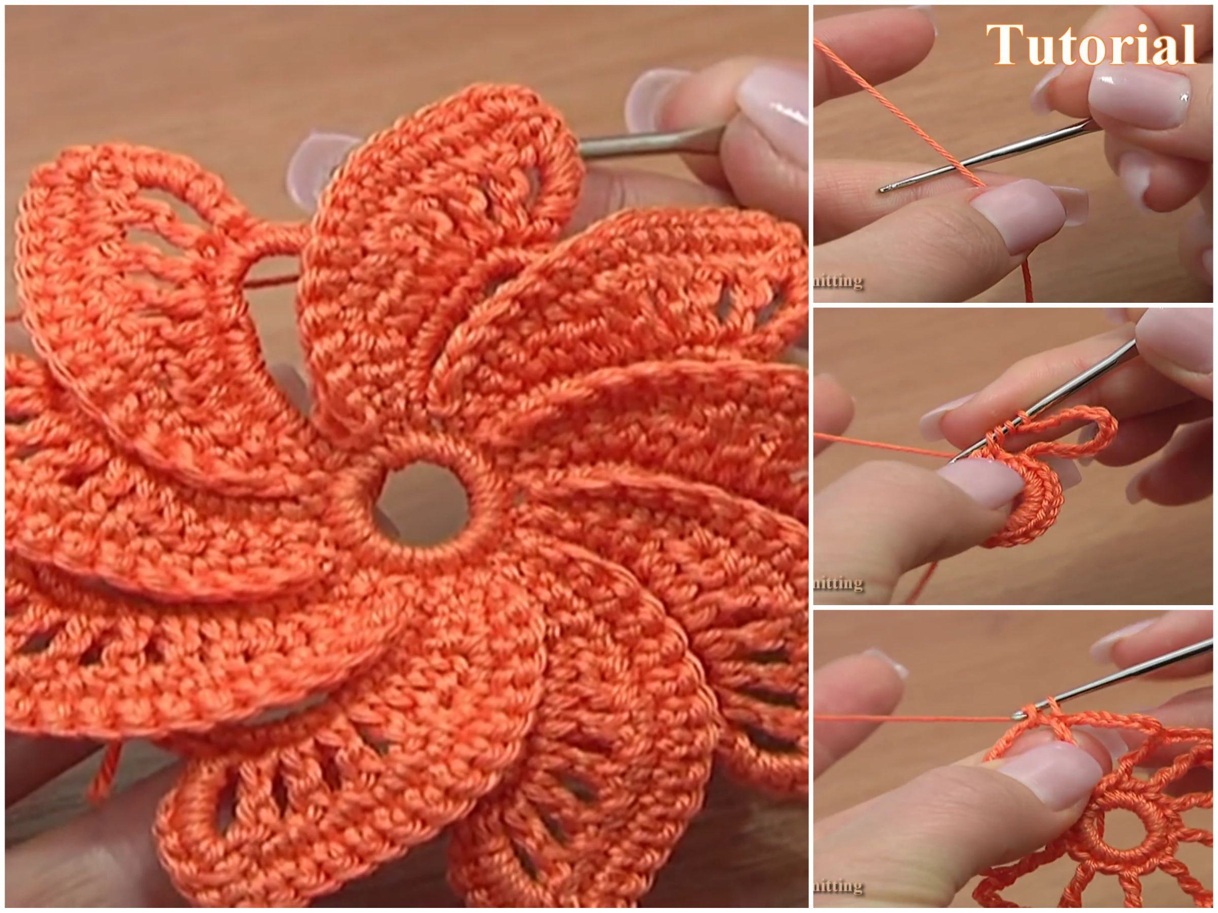 Spiral flower pattern video tutorial crochetbeja this amazing flower its very versatile it can be used anywhere on the bag on any hat or you can decorate your bed covers bankloansurffo Images