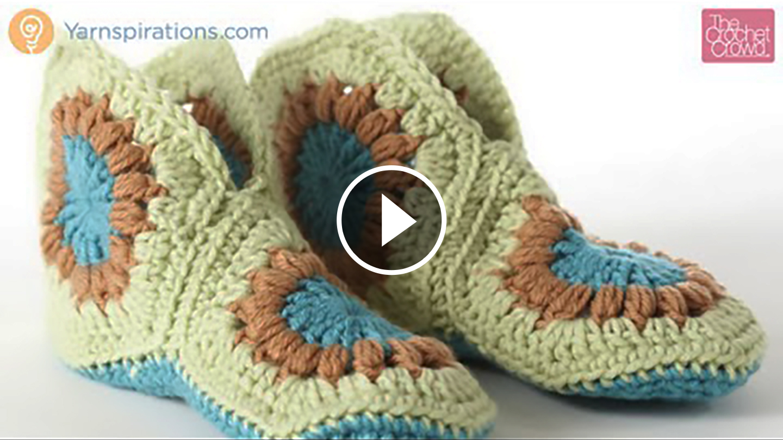 Crochet Vintage Slippers – Video Tutorial