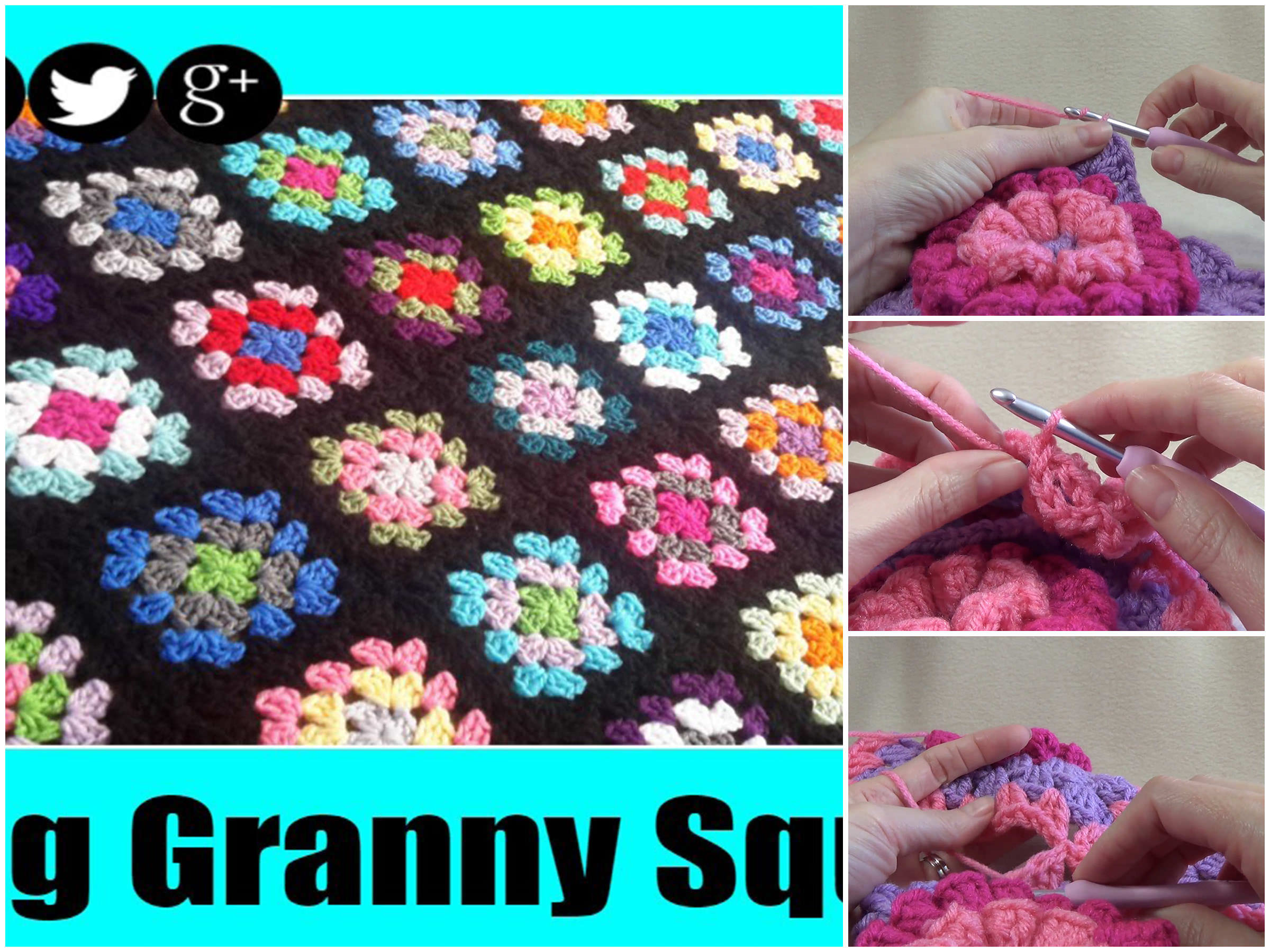 Joining Crochet Granny Squares