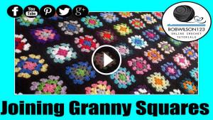 Joining Crochet Granny Square Tutorial