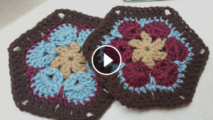 Crochet Granny Flower Hexagon – Video Tutorial