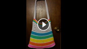 Crochet Rainbow Summer Bag – Video Tutorial