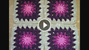 Granny Square Crocheted – Video Tutorial