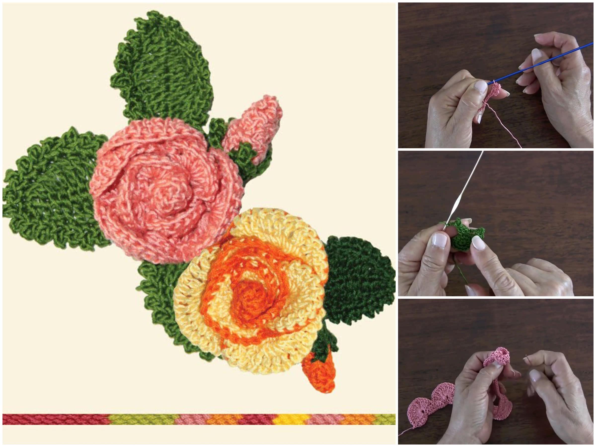 Crochet Flower Rose