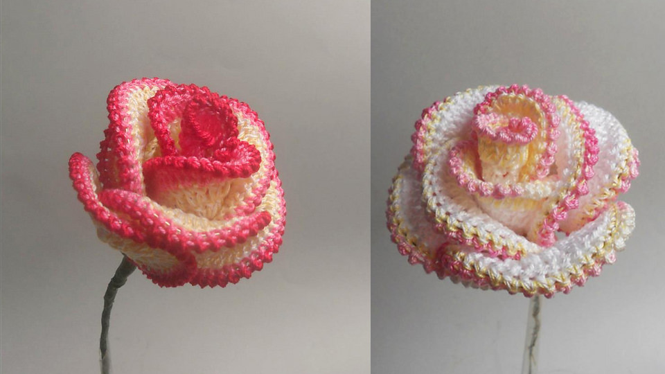 Easy Crochet Rose Flower Pattern Crochetbeja