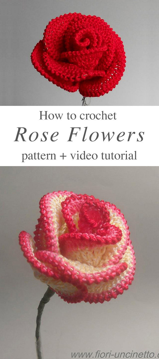 Easy Crochet Rose Flower Pattern Crochetbeja
