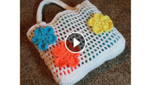 Crochet Flower Summer Bag – Video Tutorial