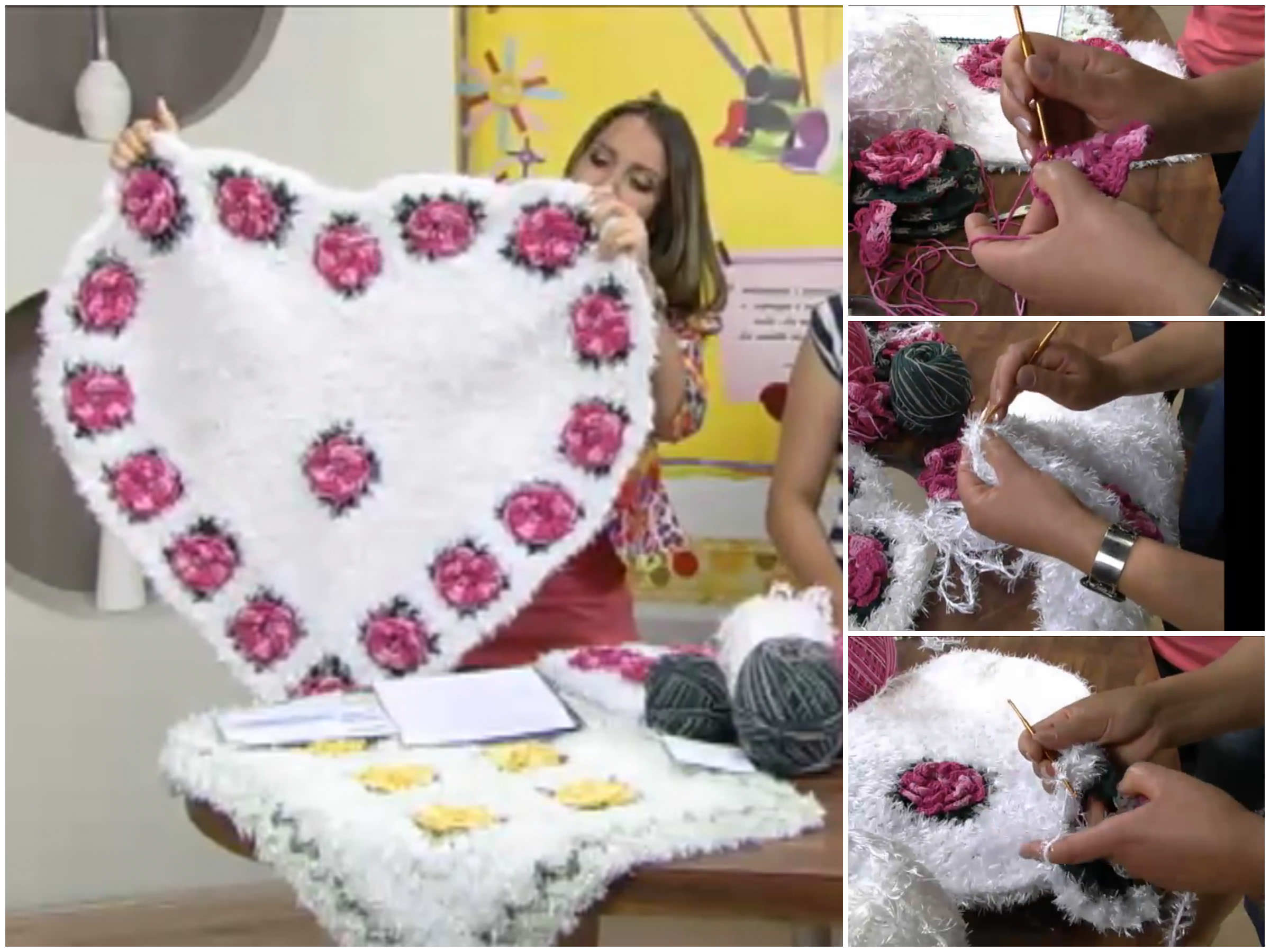 Crochet Heart Shaped Carpet