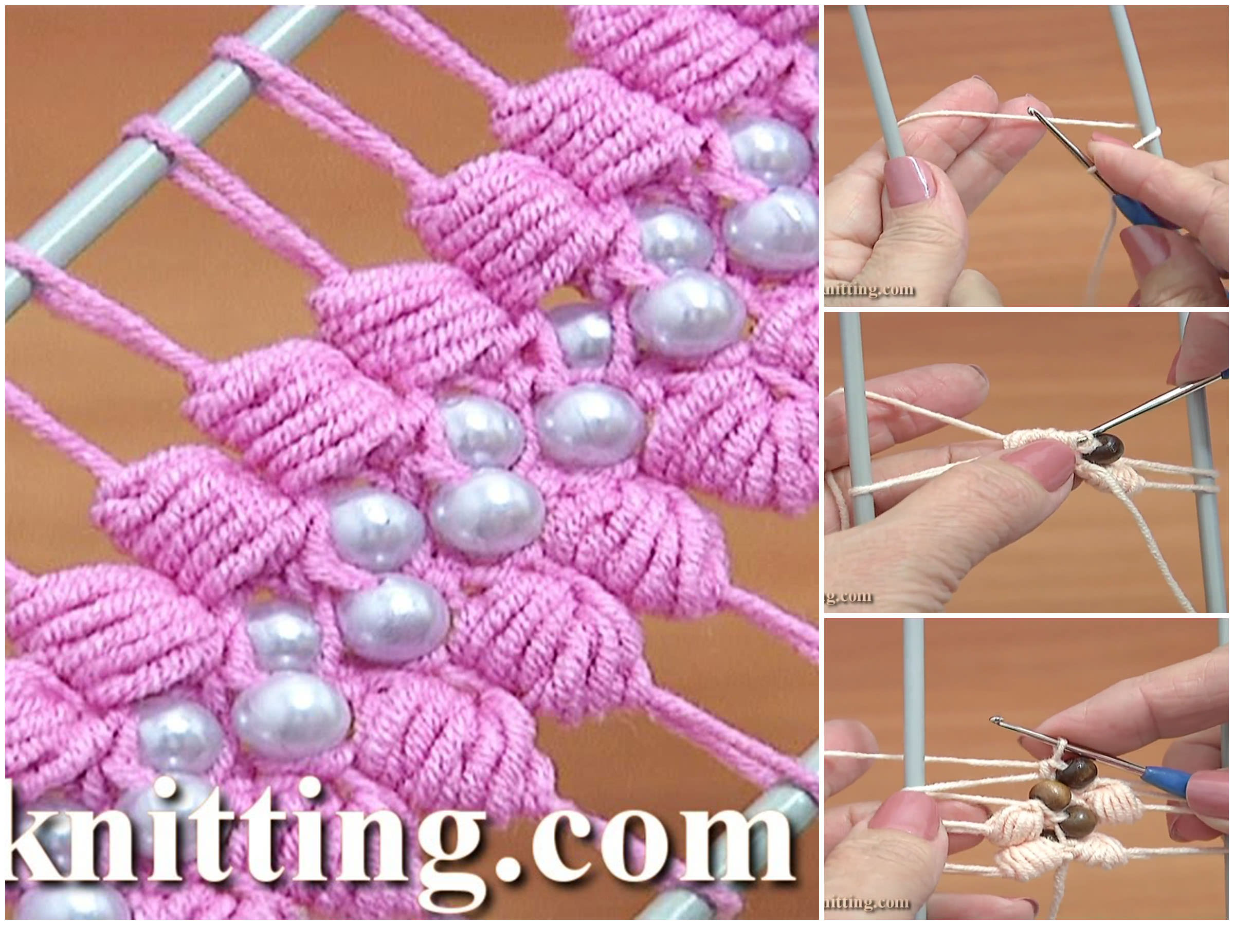 Hairpin Lace Crochet Puff Stitch