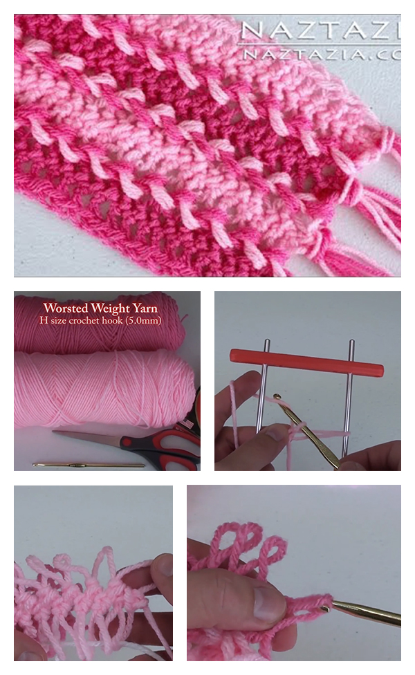 Hairpin Lace Crochet Scarf Tutorial