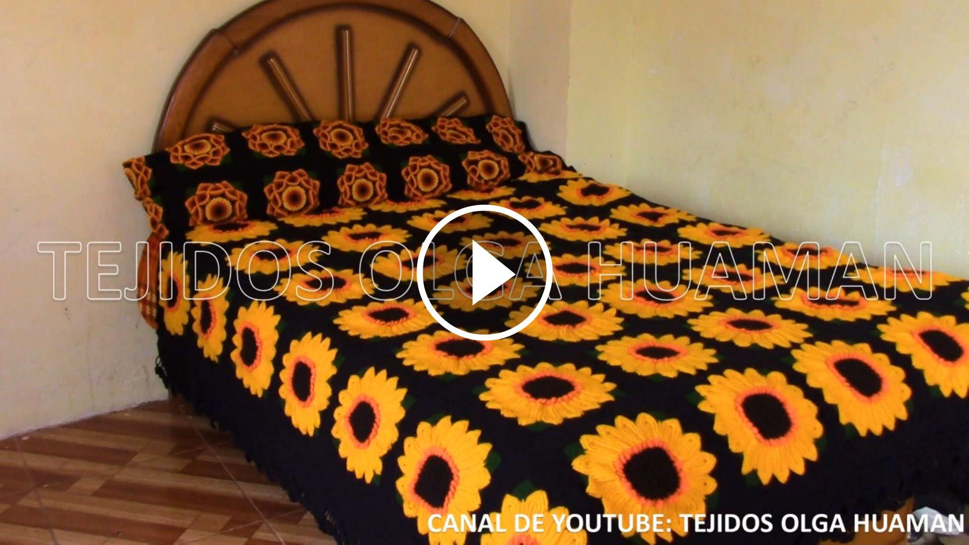 How To Make Crochet Sunflower Blanket Crochetbeja