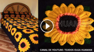 Crochet Sunflower Bedcover – Pattern & Video Tutorial