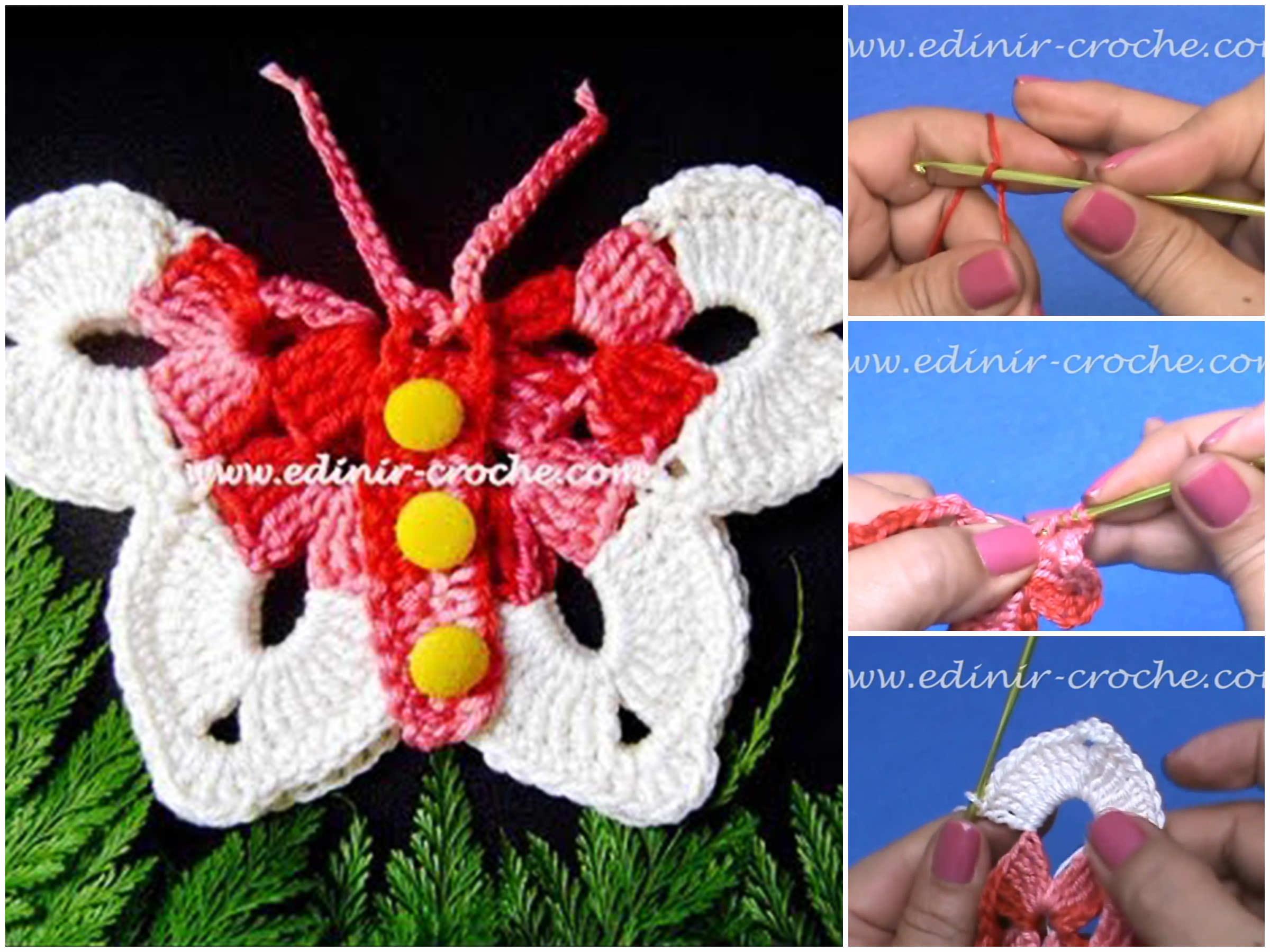 Crochet Butterfly Multicolor