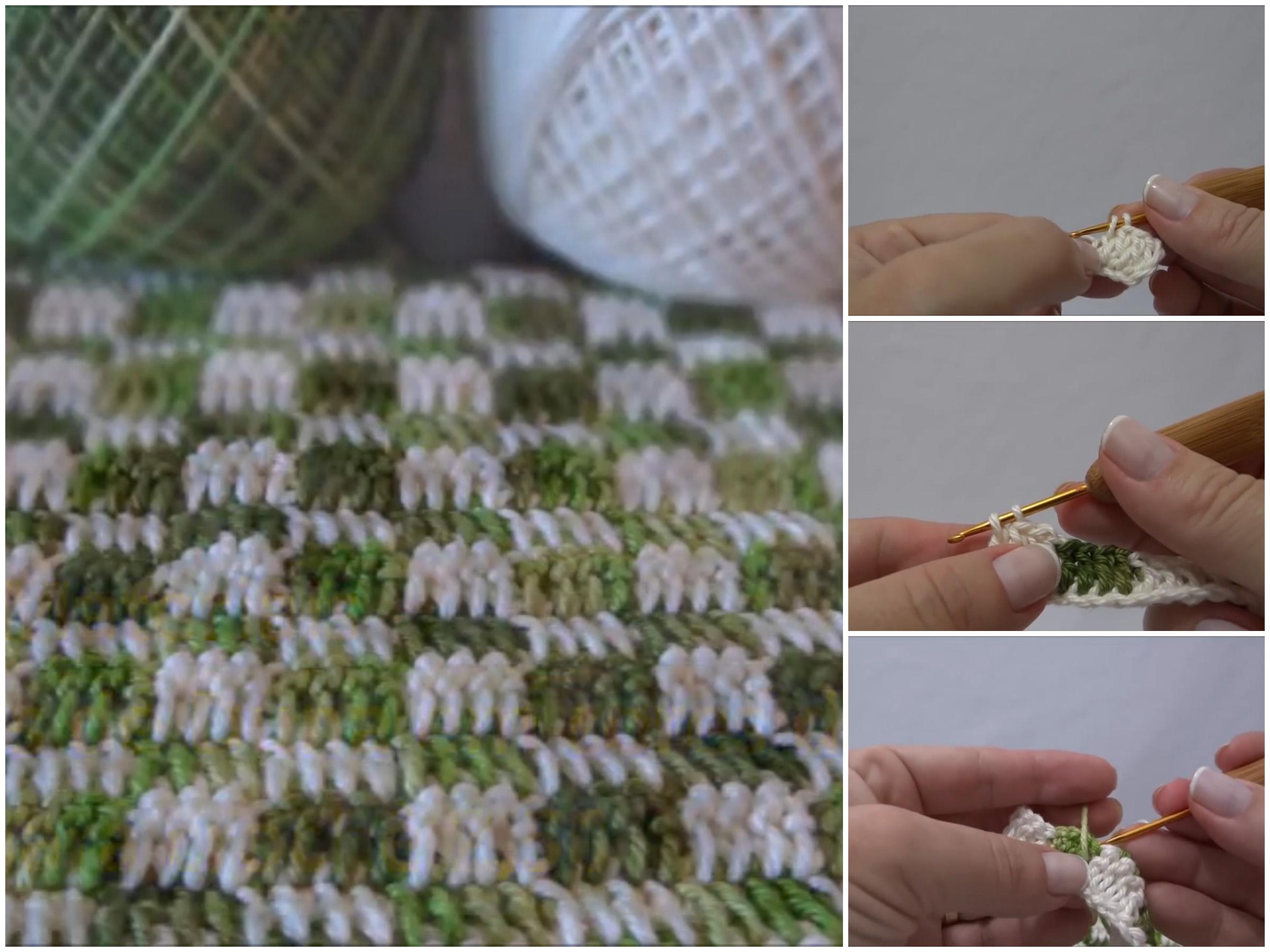 Point Crochet Squares
