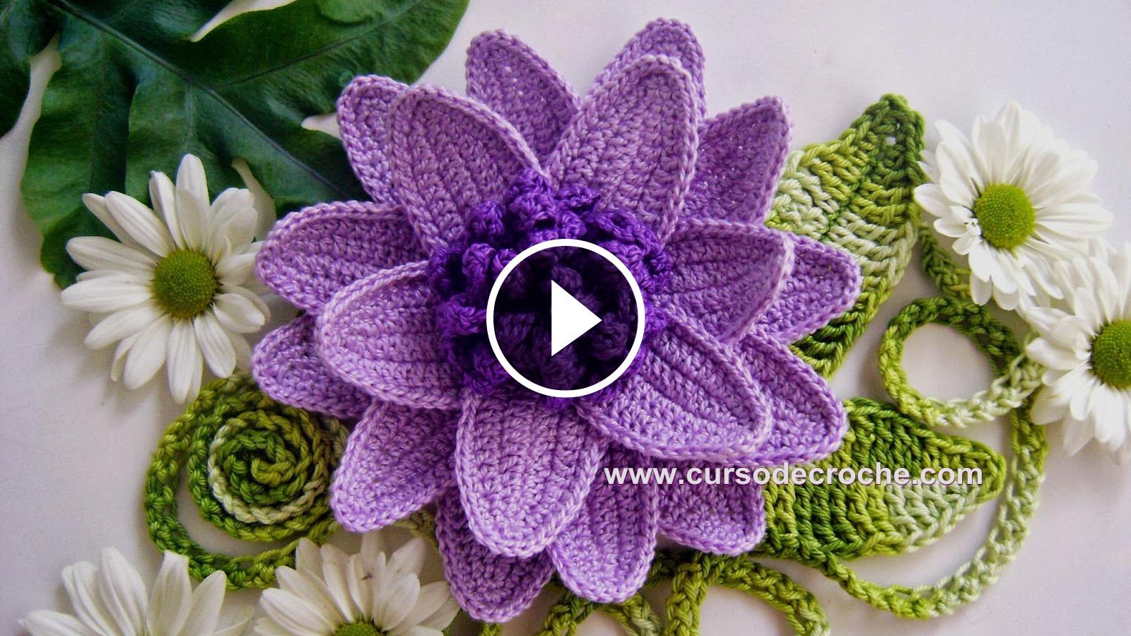 Crochet Voluminous Flower Tutorial Crochetbeja