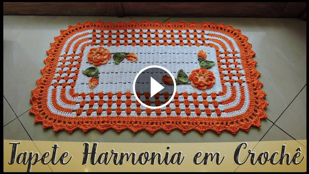 Colorful Crochet Flower Carpet Tutorial