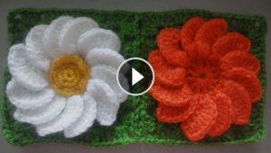 Crochet Flower Squares Tutorial