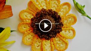 Marvelous Crochet Sunflower Tutorial