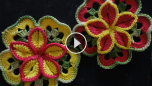 Crochet Flower Decoration Tutorial