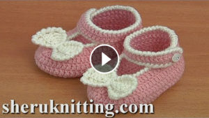 Crochet Button Buckle Bow Shoes – Video Tutorial