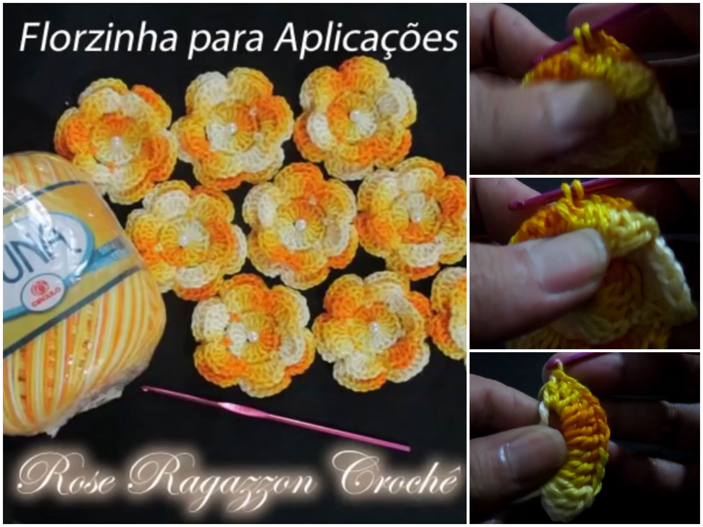 Two Color Crochet Flower