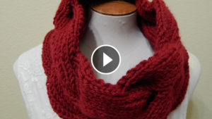Crochet Circular Reversible Scarf – Video Tutorial