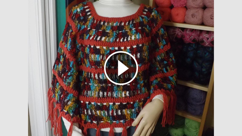 Colorful Crochet Poncho Tutorial