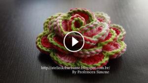 3D Crochet Flower Rose Tutorial