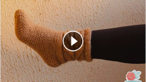 Knit Brown Slippers – Video Tutorial