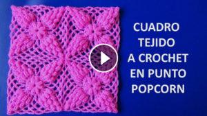 Popcorn Stitch Square Crochet Tutorial
