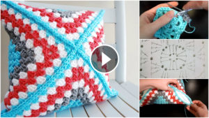 Crochet Pillow Cover Pattern Tutorial