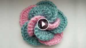 Crochet Two Color Flower – Video Tutorial