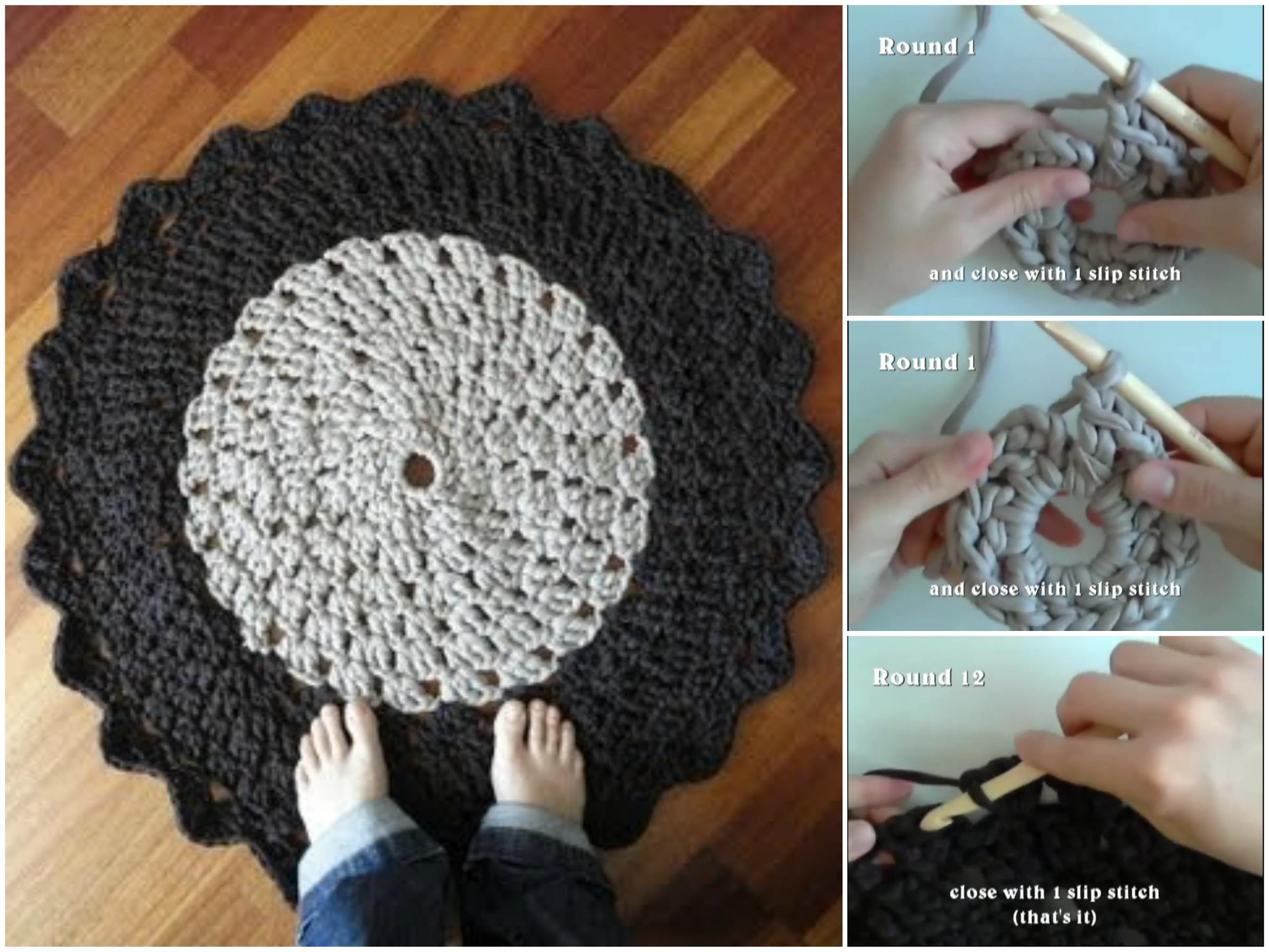 Rounded Crochet Rug Pattern Tutorial