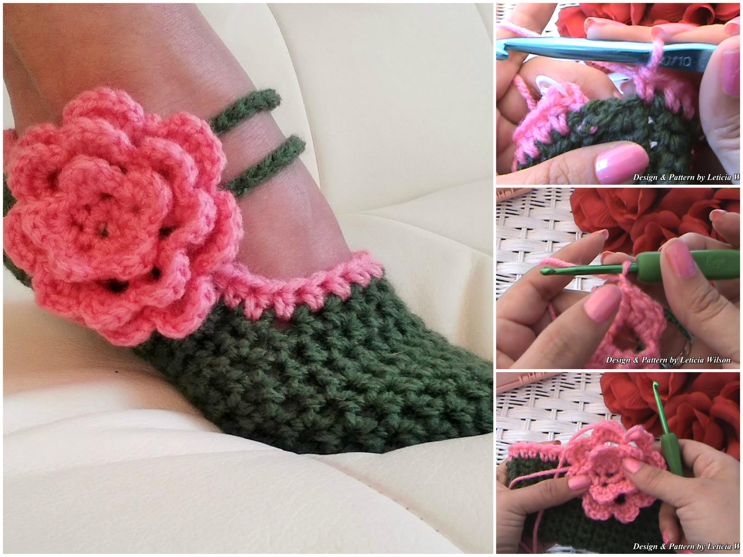 Crochet Women Slippers Free Pattern | CrochetBeja