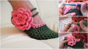 Crochet Women Slippers Free Pattern