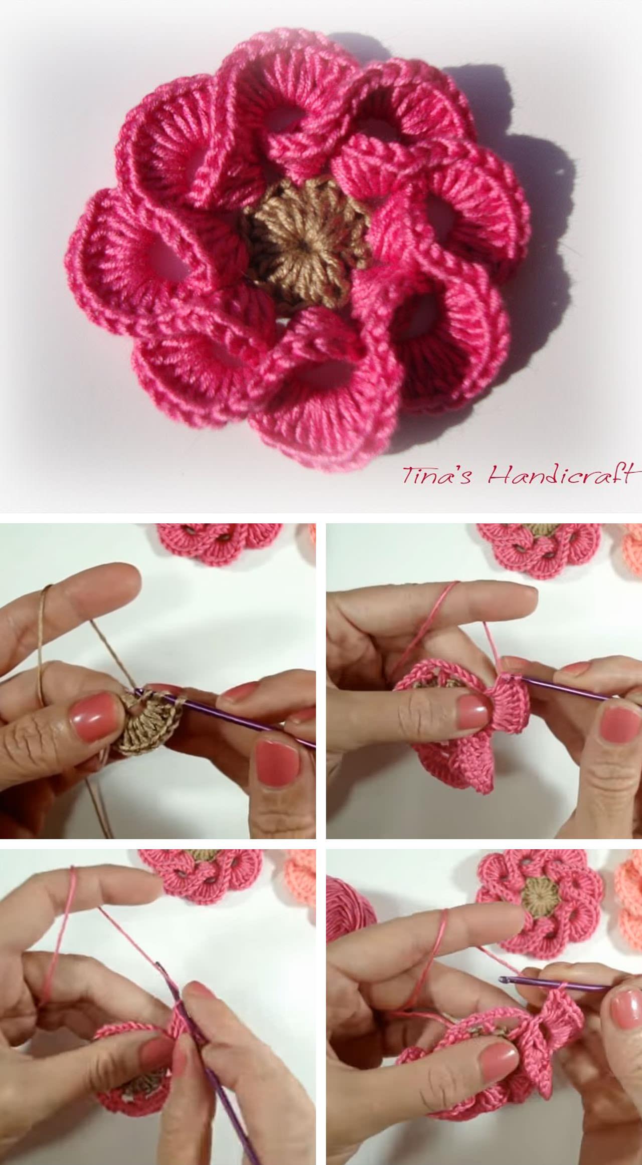 2017 05 fashion flowers to crochet - 3d Crochet Flower