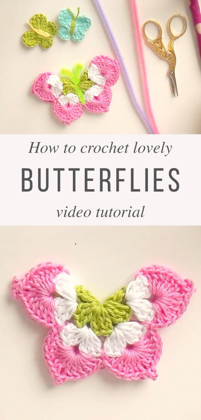 Lovely 3D Crochet Butterfly Tutorial | CrochetBeja