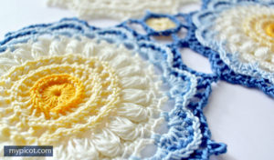 Crochet Lace Sunflower Doily Pattern and Tutorial